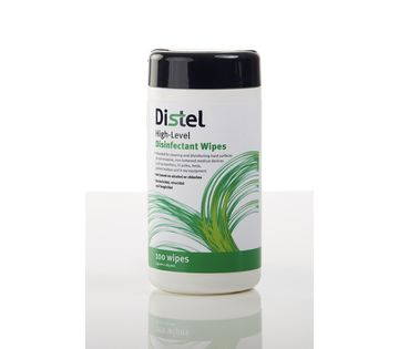 Image – Distel Disinfectant, Cloth Wipes, Dispensing Drum of 100 Wipes - key visual