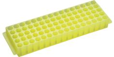 StarRack 80 polypropylene fraction collection rack, yellow