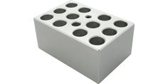 Image – Metal Blocks for Mini Dry Bath (For 12 x 1.5 ml Microcentrifuge Tubes) - product