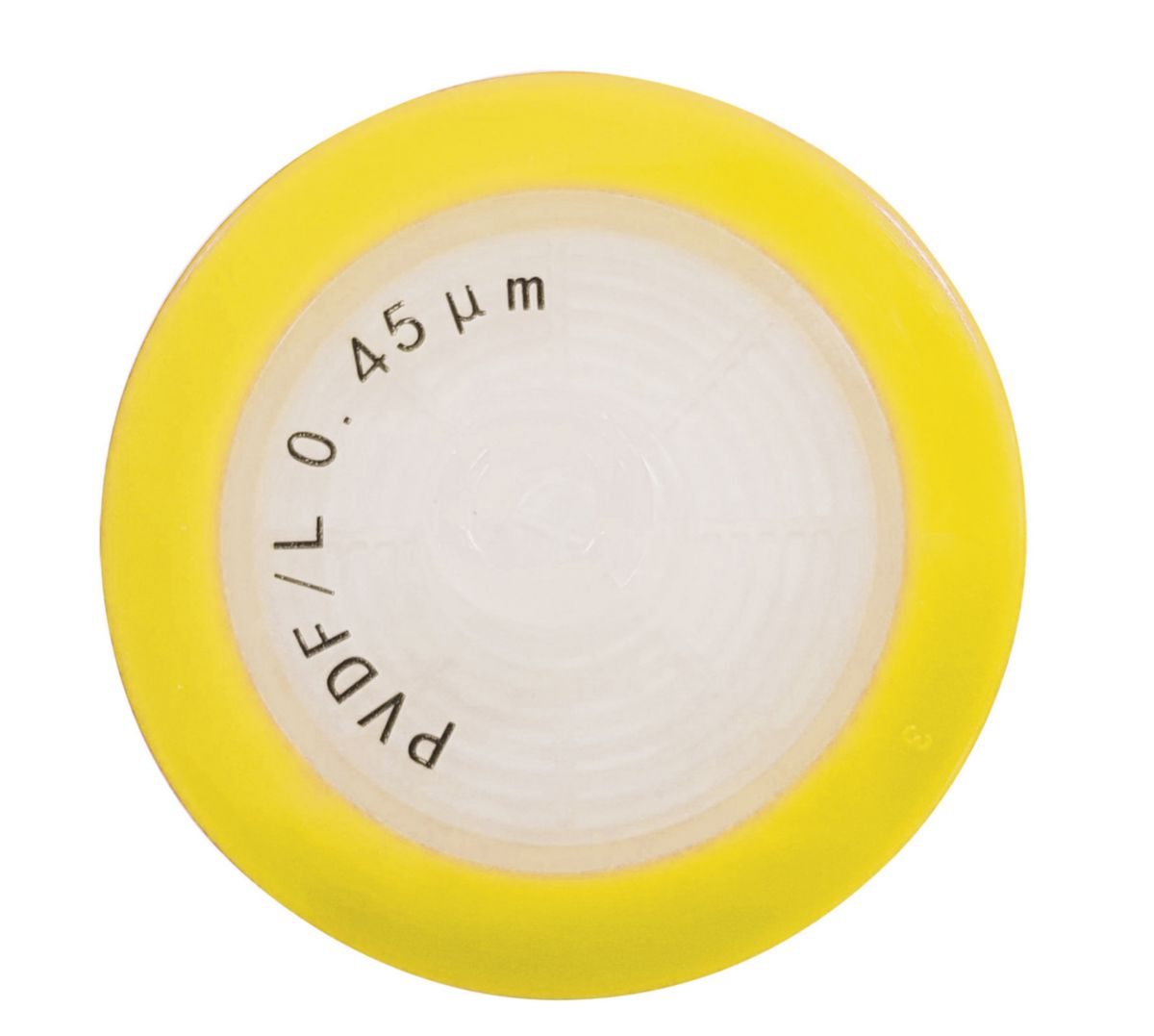 0.45 µm Syringe Filter, PVDF (Sterile), Yellow, ⌀ 33 Mm