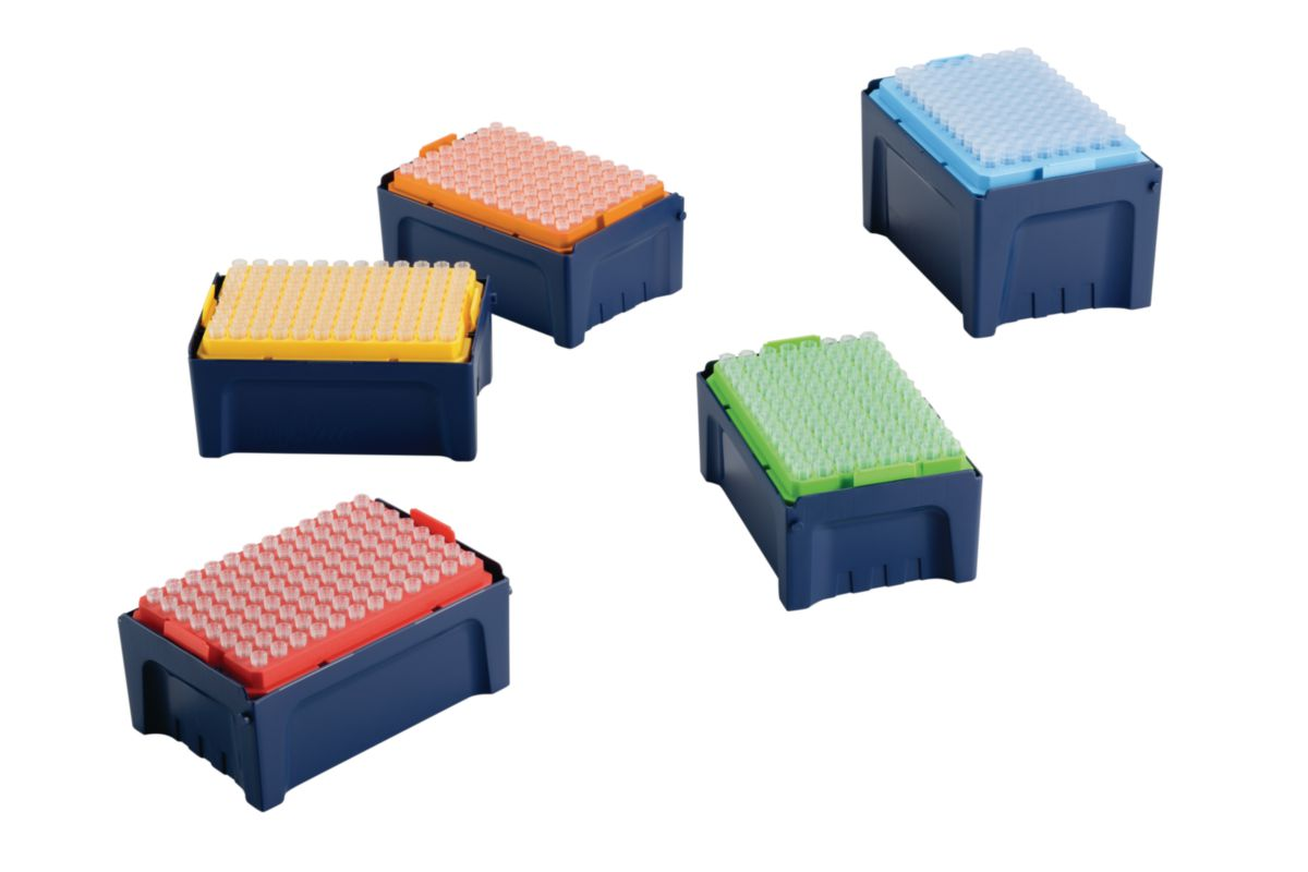 TipOne® pipette rack - colour-coded wafers