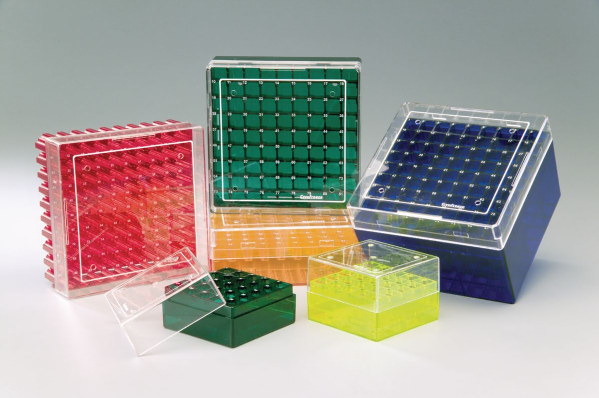 Image u2013 Coloured cryogenic storage boxes - product & Coloured Polycarbonate Cryogenic Storage Boxes - Cryogenic Storage ...